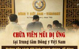 Đặt lịch chữa viêm mũi tại Trung tâm Đông y Việt Nam
