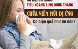 Đẩy lùi viêm mũi ứng bằng bài thuốc Tiêu Xoang Linh Dược Thang