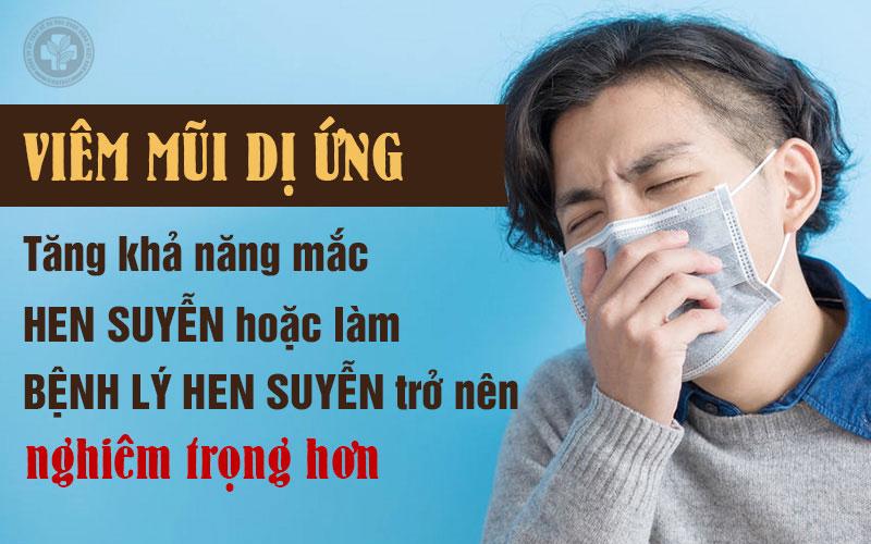 Mối liên quan giữa viêm mũi dị ứng và hen suyễn