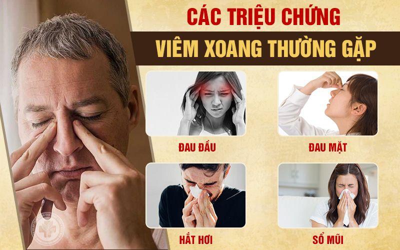 Những triệu chứng viêm xoang mũi điển hình