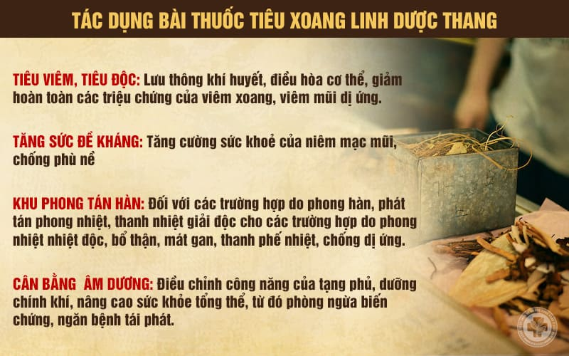 Tác dụng bài thuốc Tiêu Xoang Linh Dược Thang