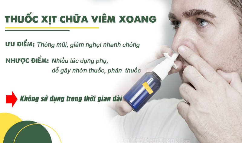 Không sử dụng thuốc xịt mũi xoang trong thời gian dài
